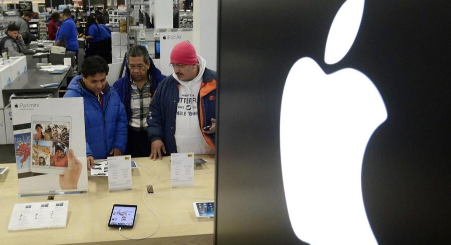 Apple er den næste, hvis skattesag skal afgøres af EUs konkurrencekommissær Margrethe Vestager, som er i færd med at se på ulovlige aftaler. Arkivfoto: Michael Reynolds, EPA/Scanpix