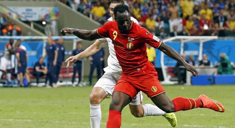 Arkivfoto. Den belgiske angriber Romelu Lukaku har skrevet under på en fem år lang kontrakt med »De Røde Djævle«.