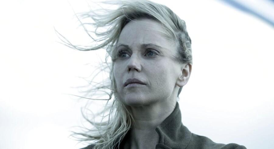 """Saga Norén (Sofia Helin) i de allersidste minutter af """"Broen"""". Foto: Jens Juncker."""