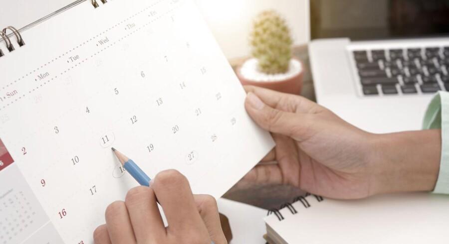 Huller i kalenderen giver plads til kreativitet. Foto: Iris