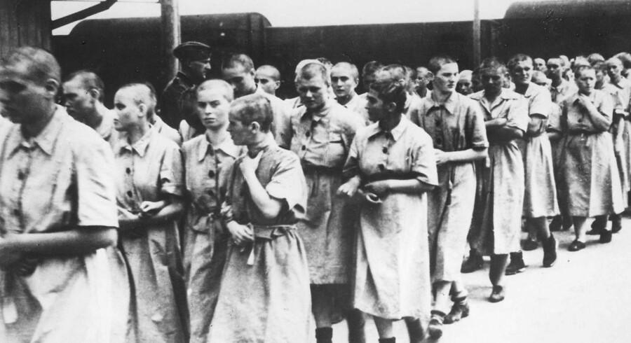 Arkivfoto fra koncentrationslejren Auschwitz-Birkenau.