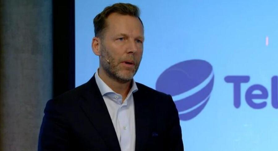Telias topchef, Johan Dennelind, udelukker helt at købe TDC. Foto: Telia