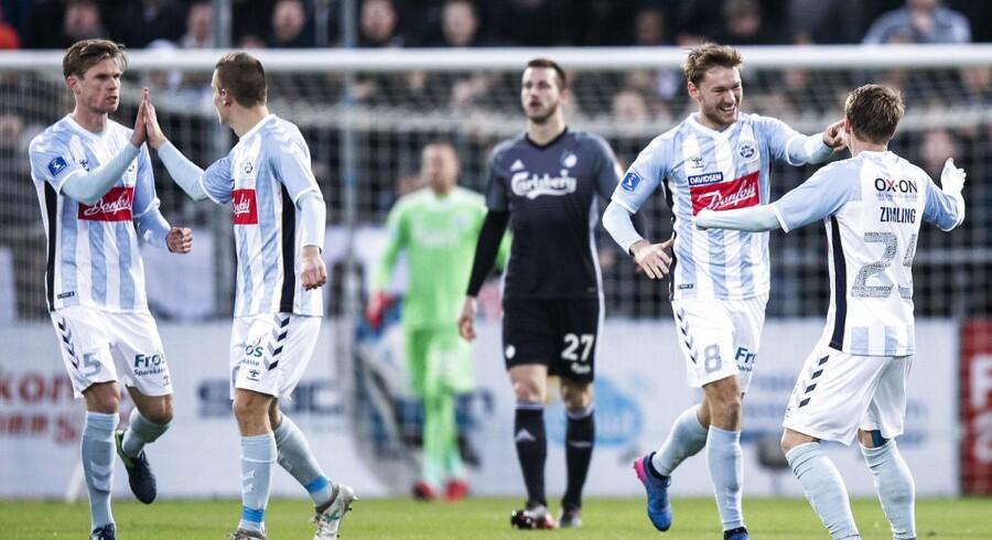 FC København er tæt på at dumpe ud af grundspillets vigtige top-6, efter at mestrene tabte 0-3 i Haderslev. (Foto: Claus Fisker/Scanpix 2017)