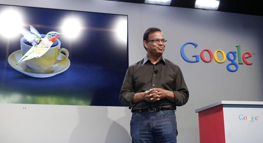 Manden, der i årevis har passet og udviklet Googles søgemaskine, Amit Singhal, forlader nu internetgiganten efter 15 år. Arkivfoto: Stephen Lam, Reuters/Scanpix