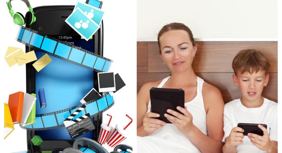 Film, musik og digitale blade eller fælles datapakke? Mobilselskaberne satser forskelligt, når de vil vinde nye kunder. Arkivfoto: Shutterstock/Scanpix