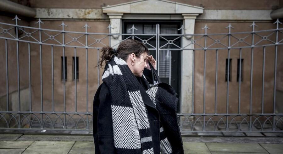 Forsvarsadvokat Betina Hald Engmark foran Københavns Byret. Tirsdag kører ottende retsmøde i sagen om Peter Madsen.