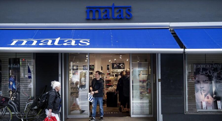 Aktien i Matas får alvorlige kurshug fra starten af den danske handel onsdag, hvor markedet ellers generelt er godt kørende og måske på vej mod endnu en rekord til C20 Cap-indekset. (Foto: Liselotte Sabroe/Scanpix 2017)