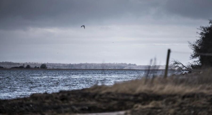 Arkivfoto fra Roskilde fjord ved udløbet af Havelse å mellem Frederikssund og Frederiksværk.