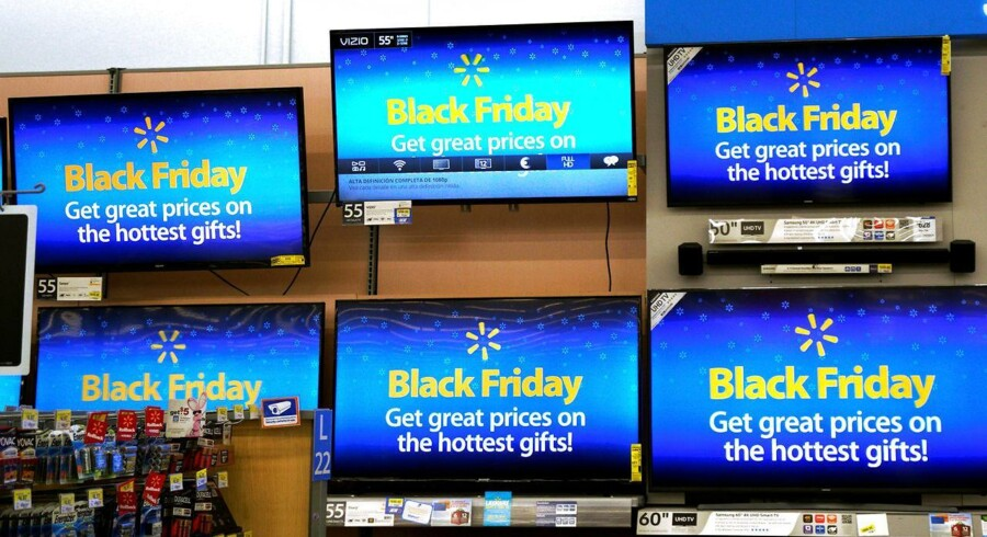 Reklamer for Black Friday i USA. Foto: Rick Wilking
