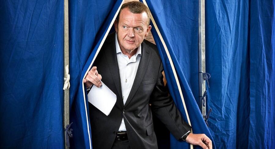 Lars Løkke Rasmussen skal måske snart i valgboksen og sætte sit kryds ved en EU-afstemning.