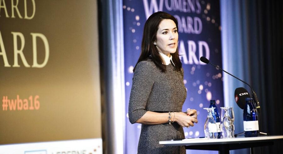 Kronprinsesse Mary overrækker fredag prisen til årets kvindelige bestyrelsestalent ved Women's Board Award 2017