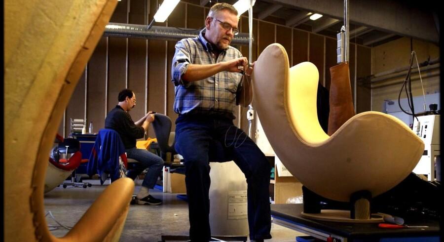Møbelproducenten Fritz Hansen har succes med at sælge Arne Jacobsens berømte stol Ægget.