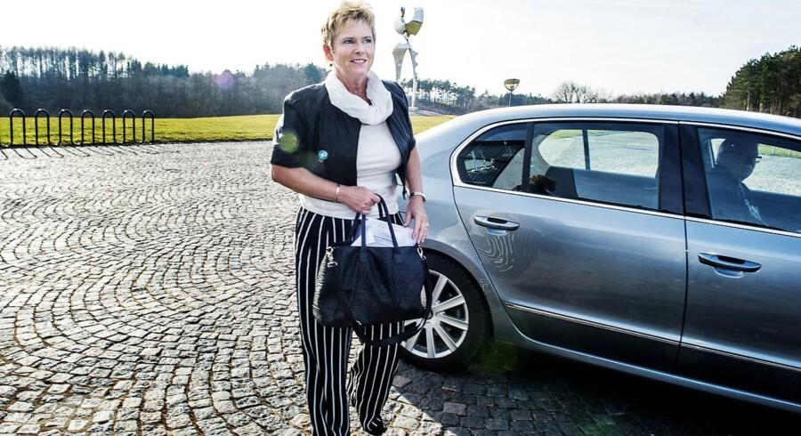 LO-formand Lizette Risgaard mødtes forleden med tillids- og arbejdsmiljørepræsentanter på Metalskolen i Jørlunde.