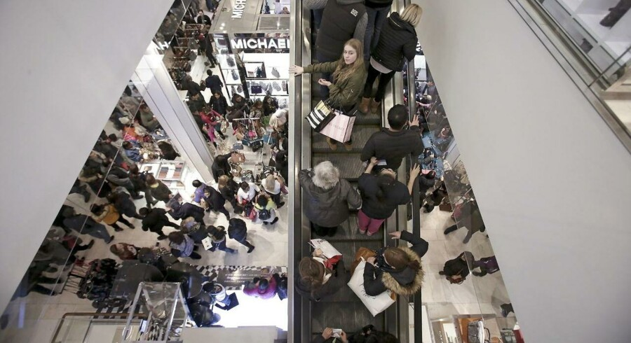 People ride an escalator at Macy's Herald Square store during the early opening of Black Friday sales in the Manhattan borough of New York, November 26, 2015. REUTERS/Andrew Kelly TPX IMAGES OF THE DAY