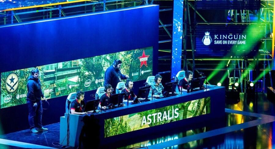 Det danske Astralis-hold ved finalen i Intel Extreme Masters (IEM) i Polen i marts 2017