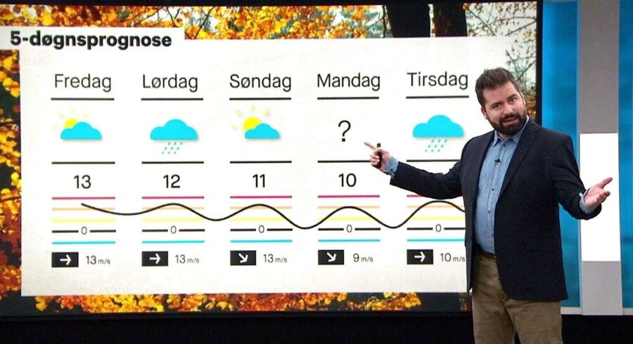 Anders Grau er underfundig vejprofet på DR2 lige efter Deadline. Foto: DR