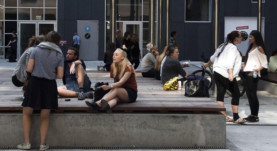 Studerende ved Campus Carlsberg, da det åbnede tidligere i år.