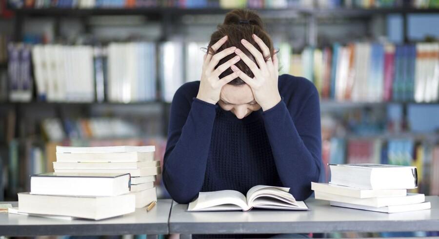 Studerende er under et hårdt pres og er utrygge ved deres fremtidsudsigter.