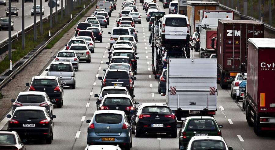 ARKIV af tæt trafik fra 2012.