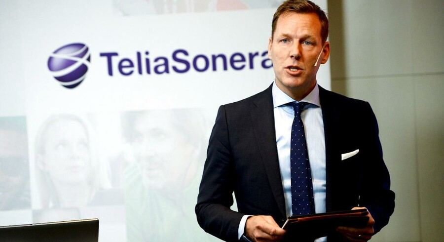 Telias topchef, Johan Dennelind, har sit at slås med for tiden. Arkivfoto: Maja Suslin, TT/Reuters/Scanpix