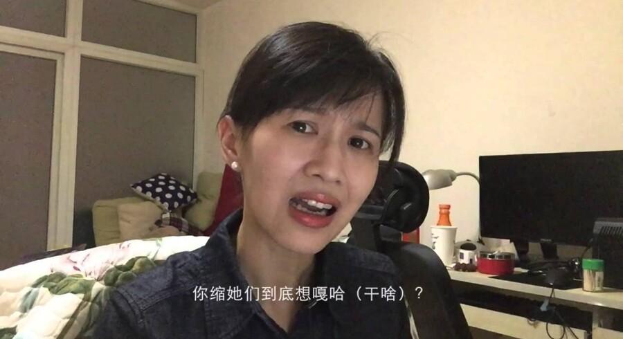 Jiang Yilei er i den virkelige verden en 29-årig kinesisk dramastuderende. På internettet kalder hun sig Papi Jiang og scorer millioner af kroner på at mene noget om mangt og meget fra hverdagen. Foto: YouTube