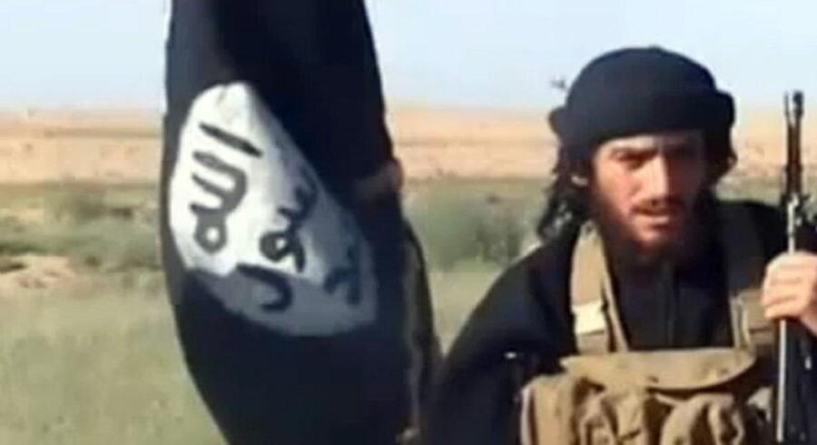 Højesteret skal igen vurdere en sag om en syrienkriger. Adam Johansen tog til Syrien for at kæmpe med IS i fem måneder. Billedet er fra 2012 og viser en talsmand for IS, Abu Mohammad al-Adnani al-Shami. Arkiv/Ritzau Scanpix