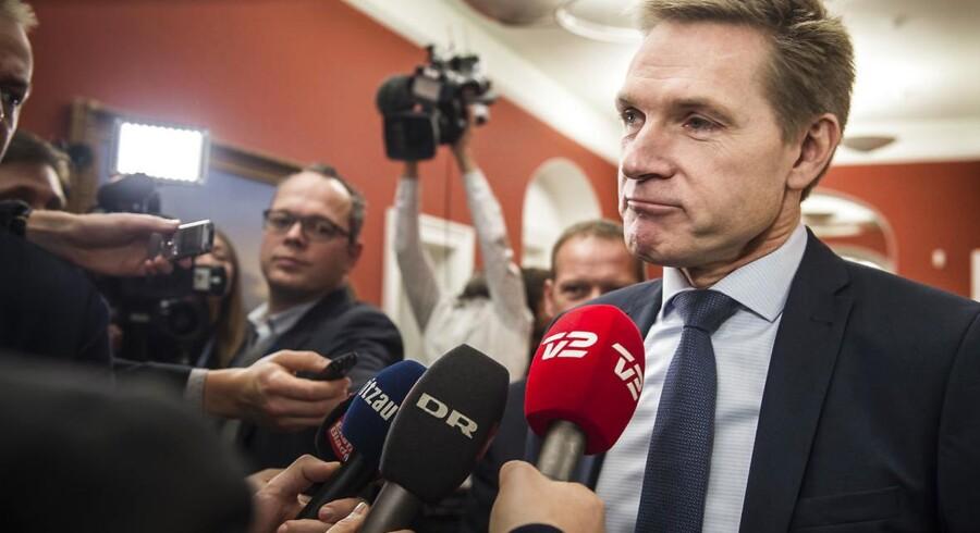 DF-formanden, Kristians Thulesen Dahl, midt i finanslovs-cirkuset. Foto: Asger Ladefoged