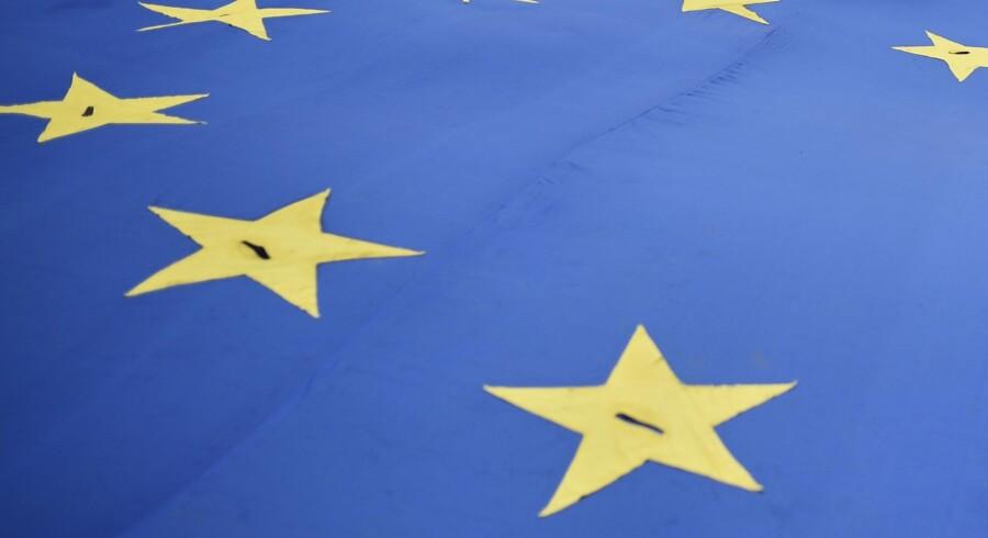 EU-Parlamentet debatterer et elektronisk ind- og udrejsesystem på en samling i Strasbourg. Scanpix/Oli Scarff/arkiv