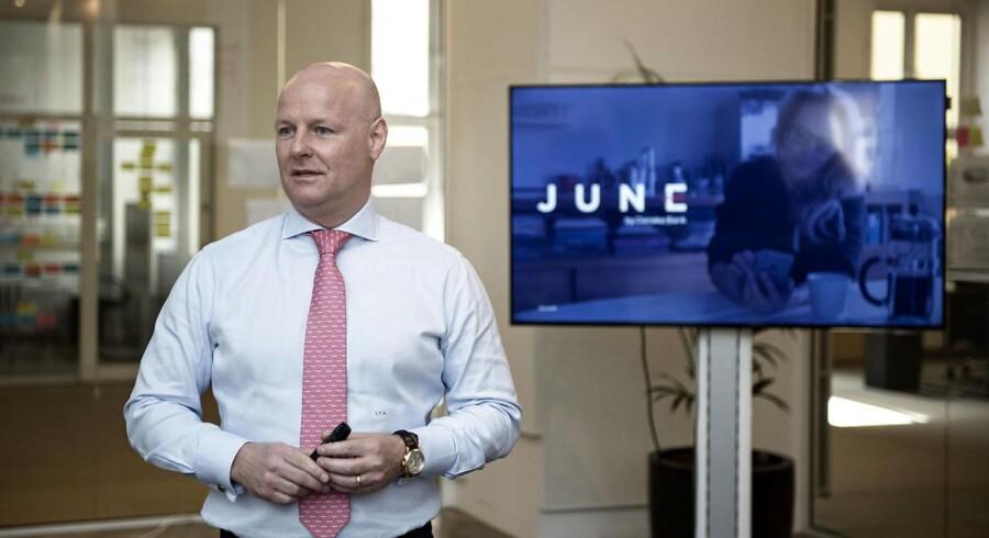 Tonny Thierry Andersen, der er bankdirektør og ansvarlig for Danske Bank Wealth Management fortæller om Danske Banks nye investeringsløsning June tilbage i maj sidste år.