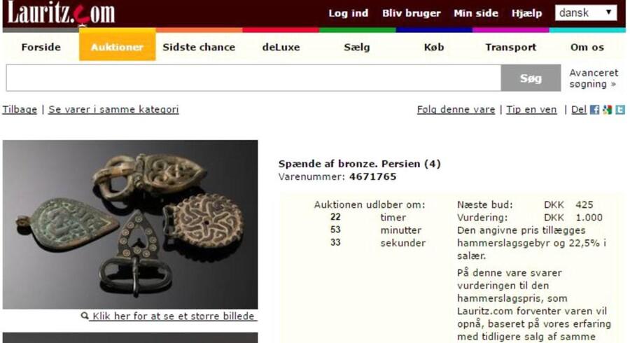 """Sådan ser effekterne ud på Lauritz.com""""s hjemmeside."""