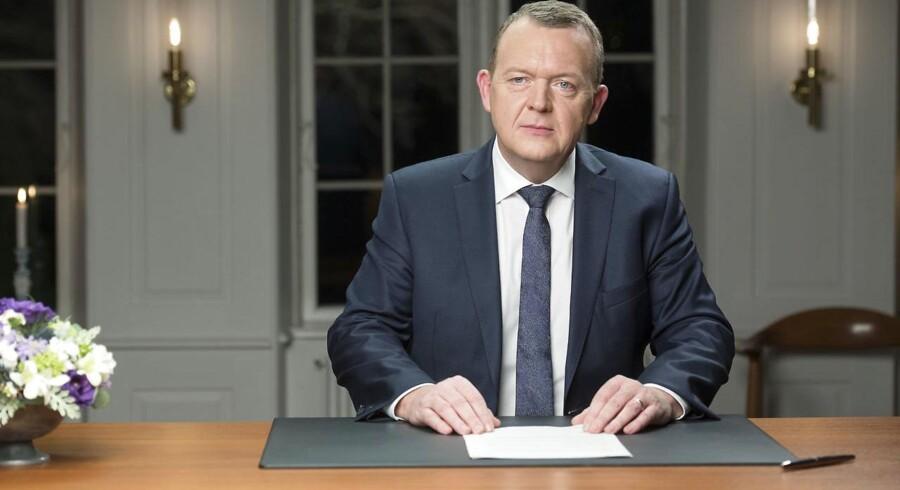 Statsminister Lars Løkke Rasmussen holdt sin nytårstale på Marienborg.