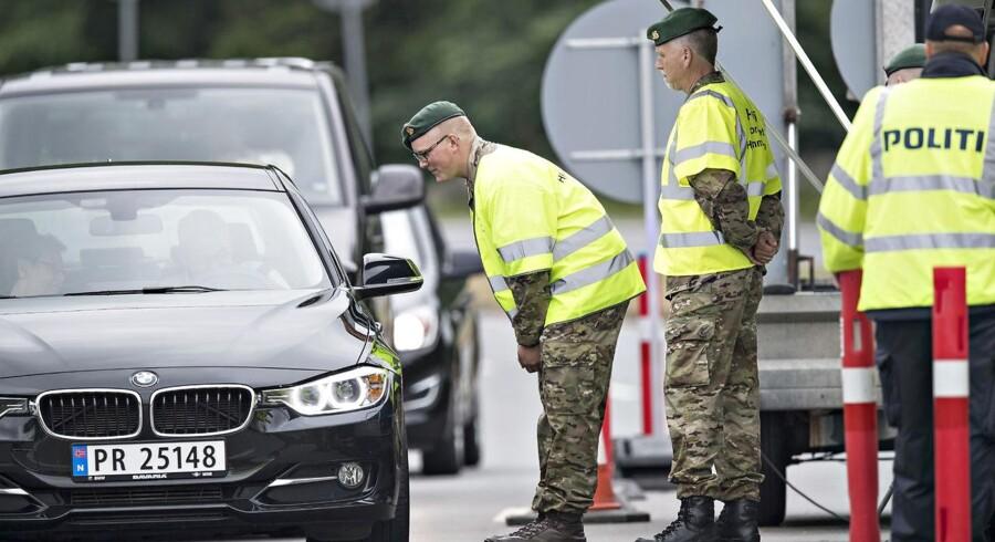 (ARKIV) Grænsekontrol ved Kruså. Den 14. juni 2016. (Foto: Claus Fisker/Scanpix 2017)
