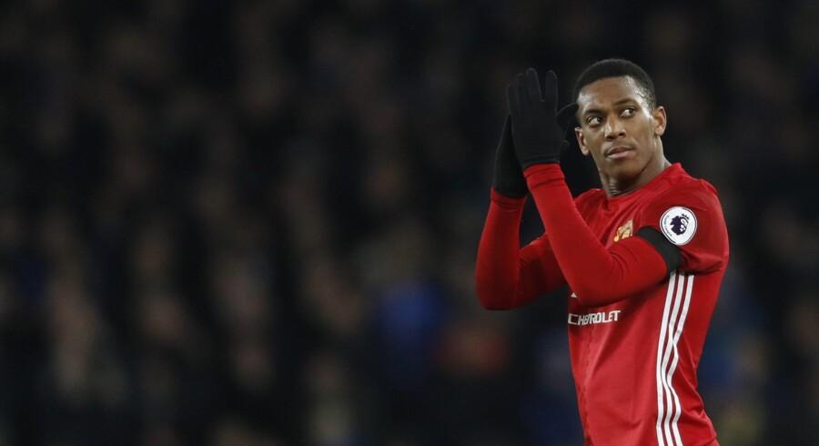 Manchester United-angriberen Anthony Martial kræver en sejr i den sidste gruppekamp i Europa League. Reuters/Carl Recine
