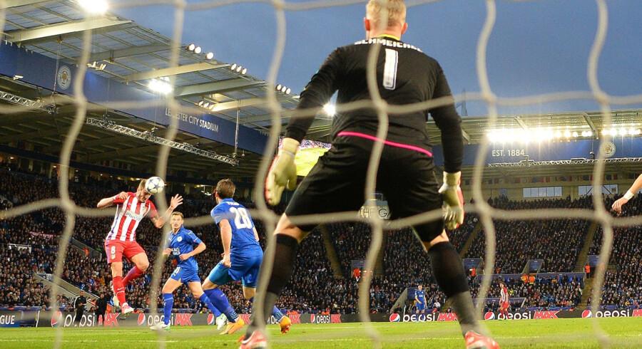 Saul Niguez øgelagde Leicesters muligheder for avancement med sin 1-0-scoring i første halvleg. Scanpix/Ben Stansall
