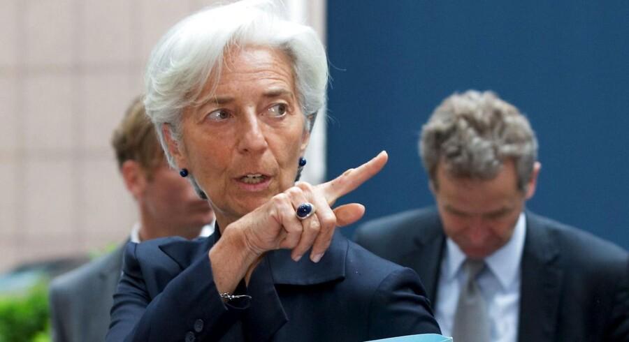 IMF-boss Chrstine Lagarde har i en telefonsamtale mandag angiveligt nægtet at udbetale flere penge til Grækenland.