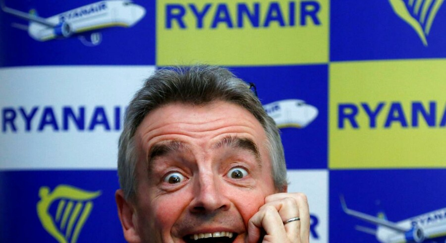 Ryanairs CEO Michael O'Leary fotograferet i Bruxelles i 2013. Arkivfoto.
