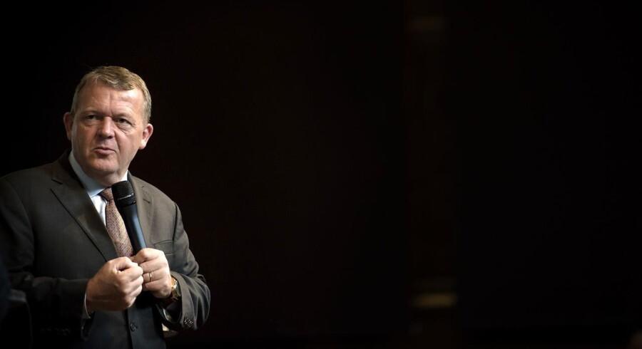 Lars Løkke holder oplæg om 2025-planen på Københavns Universitet.
