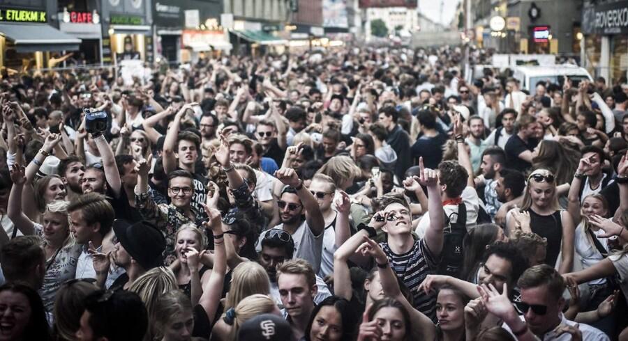 Larm i gaden. Distortion skal skrue ned for musikken. Billedet er fra sidste års gadefest.