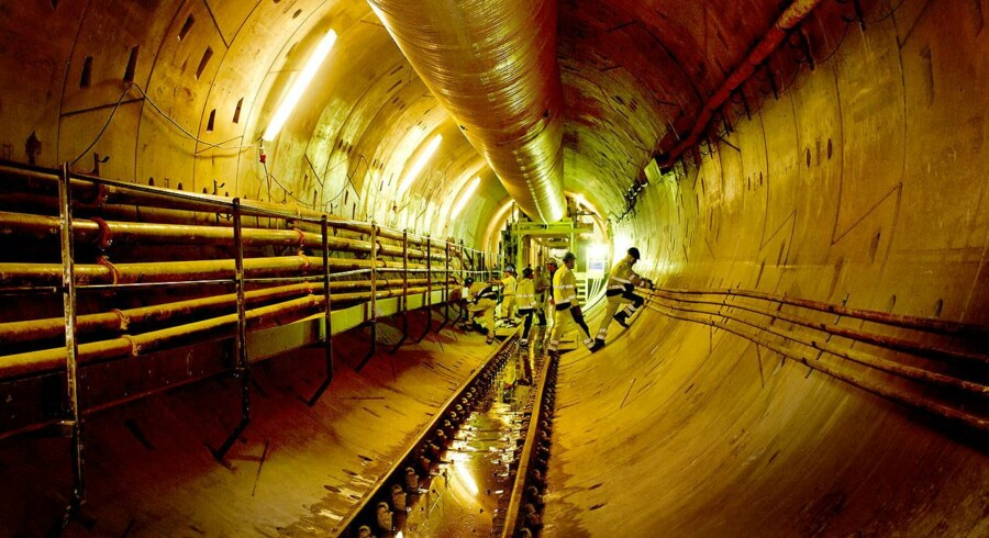 Metrobyggeriet. Cityring. Den nye metrotunnel ved Nørrebroparken.