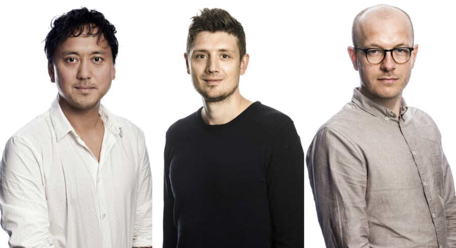 Lars Nørgaard Pedersen, Michael Lund og Chris Kjær Jessen fra Berlingskes gravegruppe.
