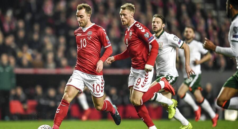 En VM-kvalifikation kan give DBU øgede muligheder for at score store summer på sponsorater. Foto: Lars Møller/Scanpix