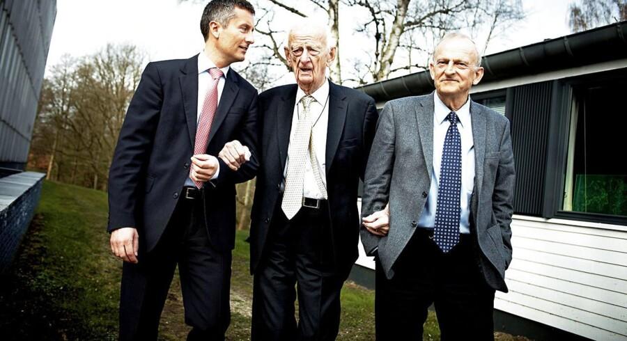 Tre generationer af familien Topsøe.