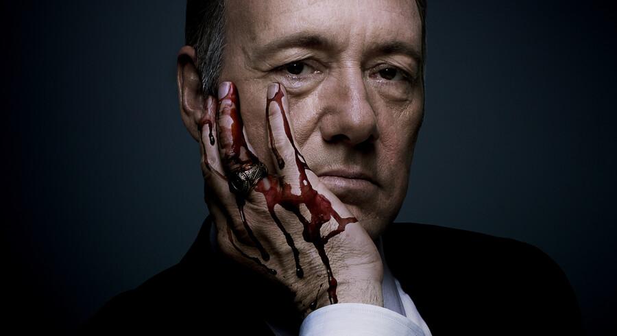 Kevin Spacey er tilbage i rollen som Frank Underwood den 27. februar 2015, når tredje sæson af »House of Cards« lægges på Netflix. Foto: Presse.
