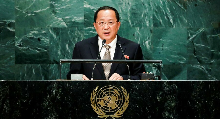 Arkivfoto. Nordkoreas udenrigsminister Ri Yong-ho.