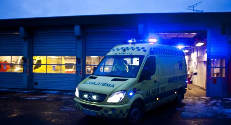 En 17-årig pige var sammen med fire andre piger i bilen - tre fra Odense og en fra Aalborg - da de kørte galt kort før klokken halv to tirsdag eftermiddag. Foto: Anders Debel Hansen
