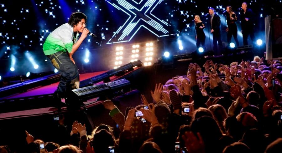 Deltagerne i X Factor giver koncert på Rådhuspladsen i København.