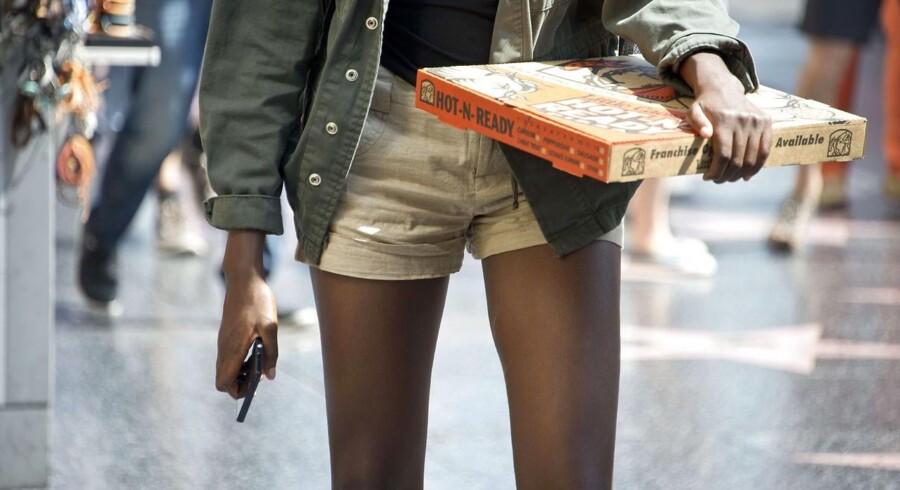 """Slanke lår er et så stort ideal, at nogle teenagere går meget op i at have et """"lårhul"""". Ordet kommer fra det amerikanske thigh gap, og er nu på vej ind i det danske sprog.Foto: Robyn Beck/AFP"""