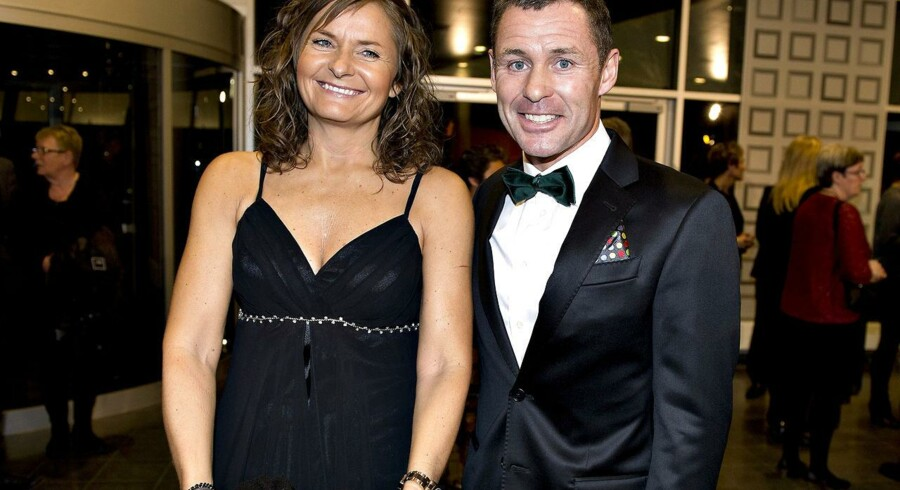 Tom Kristensen til Sport 2013 sammen med sin kæreste Hanne.