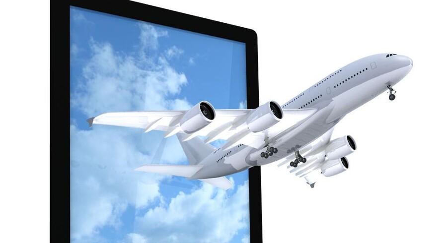 Tavle-PCer og mobiltelefoner skal nu blot stå i flytilstand - derudover må de bruges på hele flyturen hos SAS. Foto: Iris/Scanpix