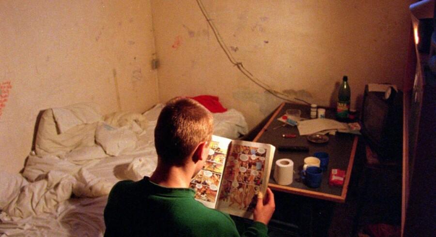 Værelserne i det ny fængsel på Falster bliver nok en kende mere luksuøse end dette.  Arkivfoto: Scanpix